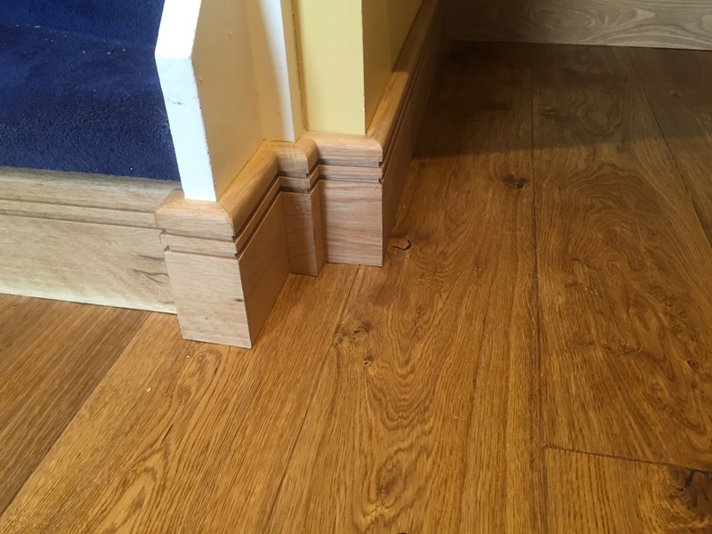 Wood flooring installed with precision